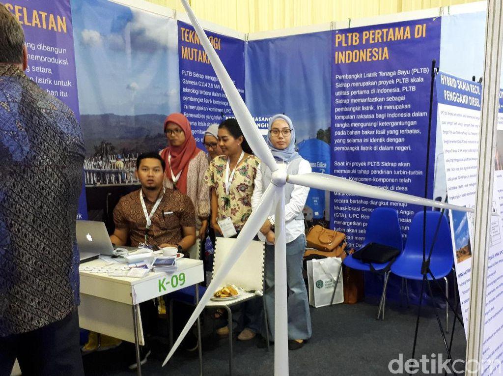 Turbin angin raksasa ini terdiri dari satu tiang dengan tinggi 80 meter, dilengkapi 3 kipas besar dengan panjang 57 meter. Di pameran ini, anda bisa menemukannya dengan ukuran mini skala 1:62.
