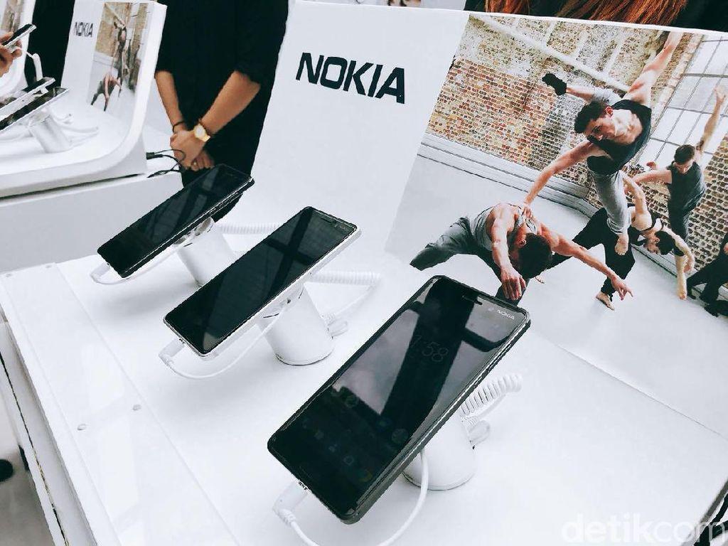 Adapun perangkat yang mereka boyong yakni, Nokia 3, Nokia 5 dan Nokia 6. (Foto: detikINET/Adi Fida Rahman)
