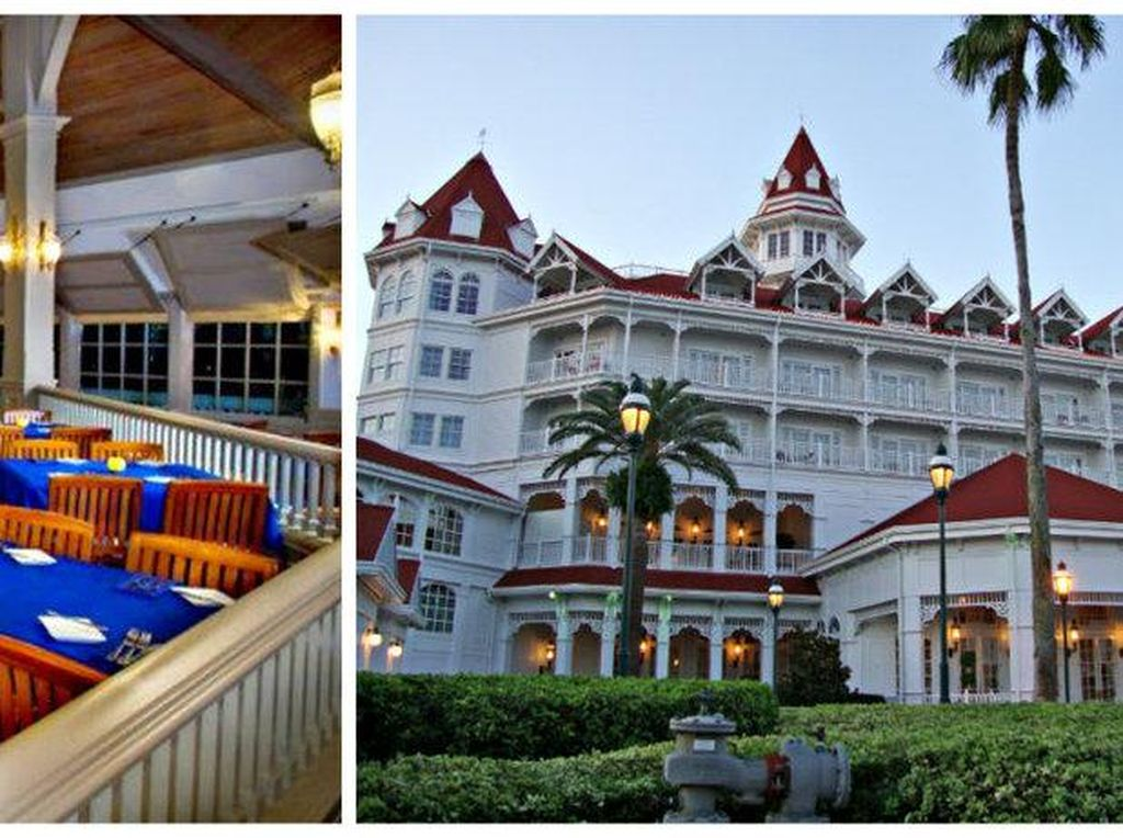 The Grand Floridian Resort ini sangat memancarkan keanggunan. Jika tak kuat membayar uang untuk menginap di restoran ini. Anda bisa berkunjung ke salah satu restoran yang ada di dalamnya. Narcoossee adalah salah satu dari beberapa restoran Disney yang bisa dikunjungi dengan pakaian casual. Foto: Istimewa