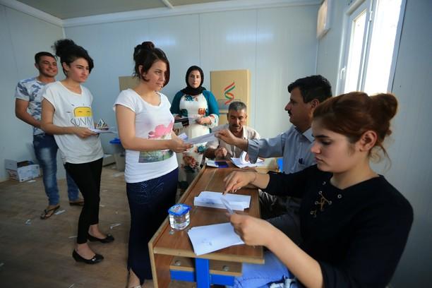 Potret Etnis Kurdi Berbagai Negara Rayakan Referendum Kemerdekaan