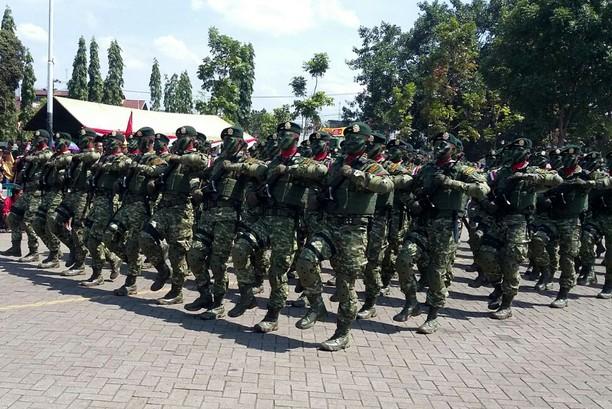 Peringatan HUT ke-72 TNI di Markas Divif 2 Kostrad