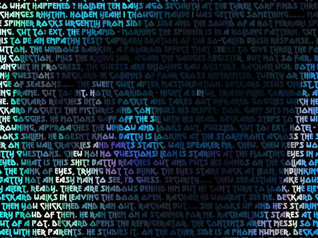 Jika dilihat dari semua foto, tampak seperti noise. Namun, saat diperbesar akan terlihat dengan jelas semua komponen yang ada difoto tersebut adalah naskah dari film Blade Runner yang ditulis dengan Metal Lord font dan menjadi sebuah seni yang menarik. Tertarik mencoba? Bored Panda/Robotic Ewe.