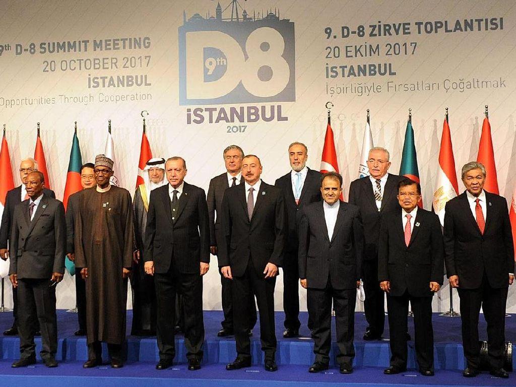 Wapres JK Pimpin Delegasi Indonesia di KTT D-8