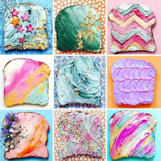 Makin Asyik Makan Roti Panggang dengan Olesan Krim Mermaid