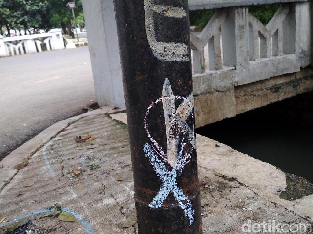Foto: Kondisi Terkini Tiang Lampu yang Ditabrak Setya Novanto